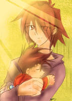Father and son by T3hb33