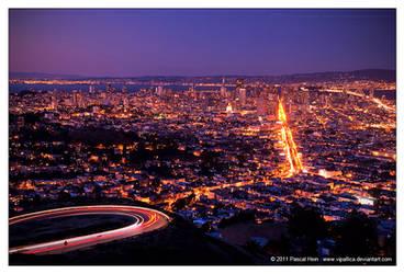 San Francisco Nighttime by Vipallica
