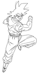 goku lineart 2 by Bejitsu