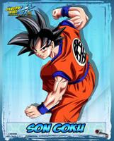 DBKai card #1 Son Goku by Bejitsu