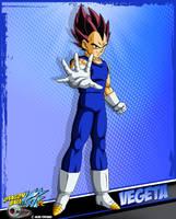 DBKai card #14 Vegeta by Bejitsu