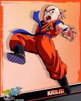 DBKai card #21 Krilin by Bejitsu