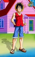 Luffy DBZ style by Bejitsu
