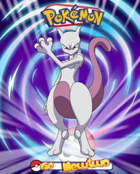 Pokemon - 150 Mewtwo by Bejitsu