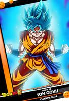 New Card 1 - Son Goku SSJG Blue by Bejitsu