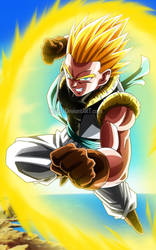 Dragon Ball Heroes - Adult Gotenks SSJ by Bejitsu