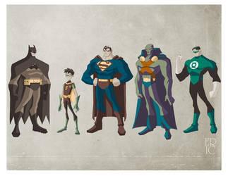 DC Superheroes by EricGuzman