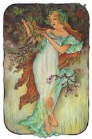 Mucha's Seasons - Spring by AnnaSulikowska