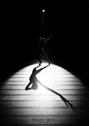 Theater Shadows:Dance one person by sergekrivoshei