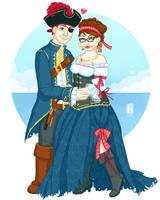 Comm - Pirate Love by Hanasu