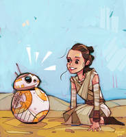 Rey and BB-8 by michaelfirman
