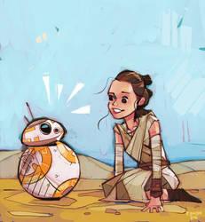 Rey and BB-8 by michaelfirman
