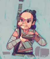 Rey-a-Day 16: Scavenger snacks by michaelfirman