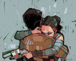 Rey a Day 21 - Hug by michaelfirman