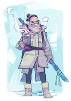 Rey-a-Day 26 Visiting Hoth by michaelfirman