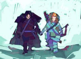 Jon and Ygritte by michaelfirman