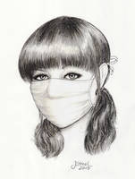 portrait of woman in surgical mask by jstreel