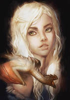 Mother of dragons Daenerys by lehuss