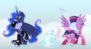[Request] - [MLP] - Tuna Snowball fight by VerumTee