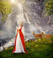 near a waterfall by LenaSunny