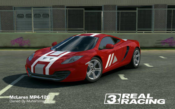 Real Racing 3: McLaren MP4-12C Custom Decal by akays1991