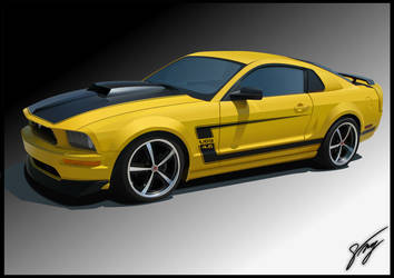 Mustang GT Vector by No0ir