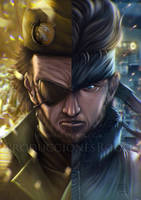Metal Gear - Big Boss and Solid Snake by RogerGoldstain