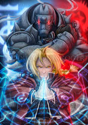 Edward and Alphonse Elric from FMA by RogerGoldstain