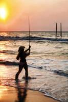 Fishing at Sunrise by wstoneburner