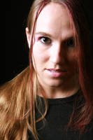 Brown eyes, pink highlights by wstoneburner