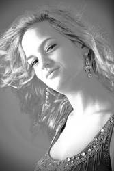 Amber BW Portrait by wstoneburner