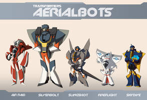 TFA Aerialbots Final Lineup by dou-hong