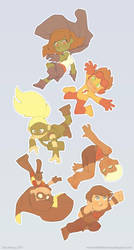 Young Justice Chibis by dou-hong