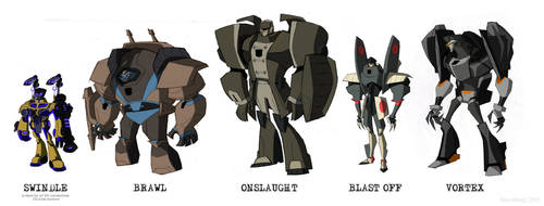 Transformers Animated Combaticons by dou-hong