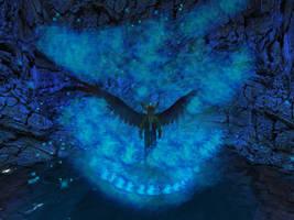 Blue Dragon Fire by ZauberParacelsus