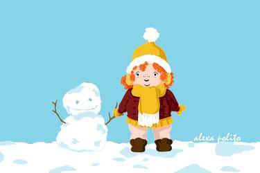 Christmas 2010- Snowfriend by rakugakikiss