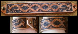 Leather bracelet by simoniculus
