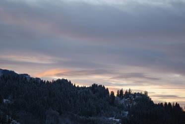 sunset in the winter by dark-silva
