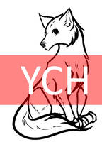 Cheap female wolf YCH (Points) by Shadkill
