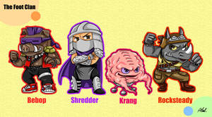 The Chibi Foot Clan!!! by athena-i