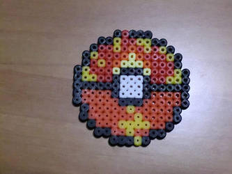 Custom fire and lightning pokeball by Ziano87