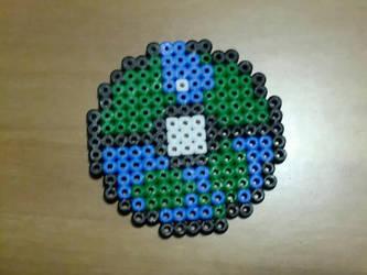 Custom water and grass pokeball by Ziano87