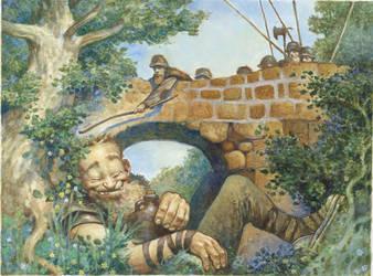 The Sleeping Troll by bridge-troll