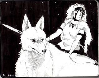 Moleskine #3 - Mononoke by AkiBrocoli