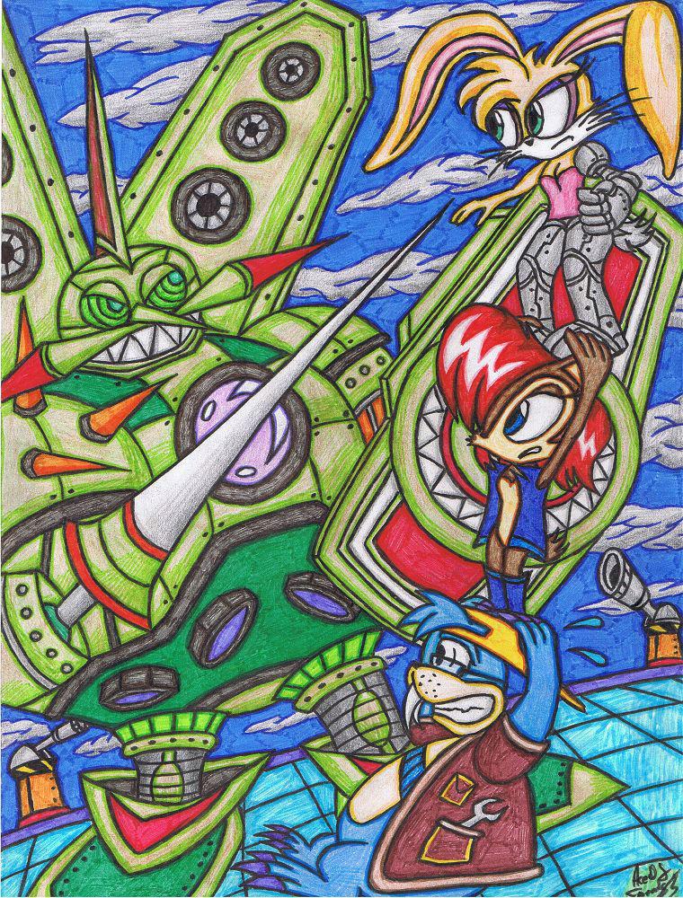 Sonic SatAM Heroes - Egg Emperor VS Team Acorn by AceOfSpeed94