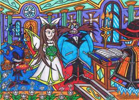 Sonic The Movie 1999 - RobotnikXSara Wedding by AceOfSpeed94
