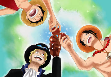 Unbreakable - Ace Sabo and Luffy by FanaliShiro