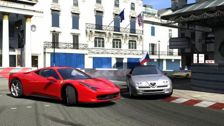 Gran Turismo 5 - Ferrari Italia overtaking drift by Plageman18
