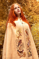 Forest birds cloak - Embroidery by Fairysiren