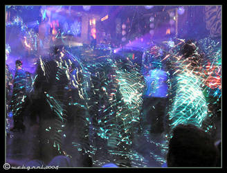 Lasers on dancers by webgrrl